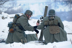 Military historical reconstruction of World War II Stock Photography