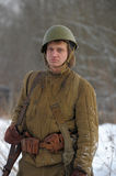 Military historical reconstruction of World War II Royalty Free Stock Photography