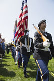 Military Honor guard at Los Angeles National Cemetery Annual Memorial Event, May 26, 2014, California, USA Stock Image