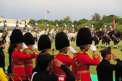 Military Horse Parade for Thai King's birthday, a Stock Images
