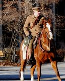 Military On Horseback In Remembrance Service stock image