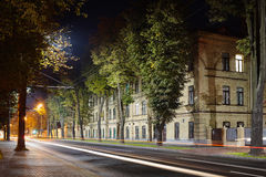 Military Hospital at Night Royalty Free Stock Photos