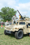 Military Humvee display Stock Images