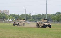 Military Humvee vehicles display Royalty Free Stock Photo