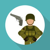 Military icon design , vector illustration Stock Images