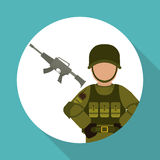 Military icon design , vector illustration Stock Photos