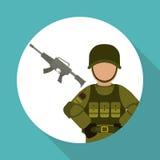 Military icon design , vector illustration Stock Photos