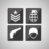 Military icon design , vector illustration Royalty Free Stock Photography