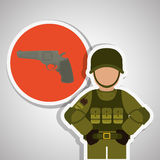 Military icon design , vector illustration Stock Photo
