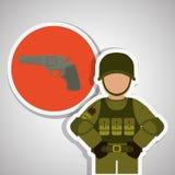 Military icon design , vector illustration Stock Photo