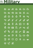 Military icon set stock illustration
