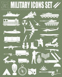 Military icon set. Constructor, kit. Royalty Free Stock Images