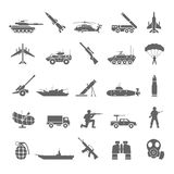 Military Icons Royalty Free Stock Photos