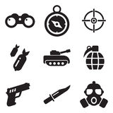 Military Icons Royalty Free Stock Image