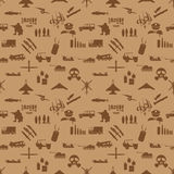 Military icons seamless wallpaper Stock Images