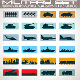 Military Icons Set. Stock Photo