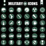 Military icons set. Military, icons, set,symbol,army Royalty Free Stock Photos