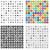 100 military icons set vector variant. 100 military icons set vector in 4 variant for any web design isolated on white Stock Illustration