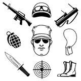 Military icons Stock Photos