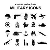 Military icons Stock Photo