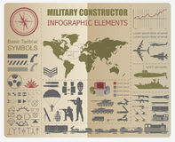Military infographic template. Vector illustration with Top Royalty Free Stock Photography