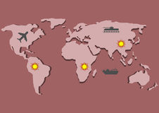 Military infographic world map Royalty Free Stock Photos
