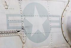 Military Insignia. Military markings and insignia on side of helicopter stock photos