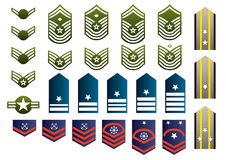 Military insignia. Isolated. Vector illustration Royalty Free Stock Photo