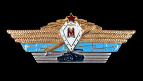 Military insignia of the Soviet Army Royalty Free Stock Image