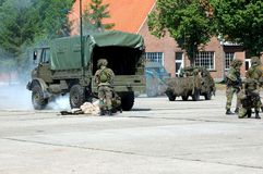 Military intervention, rescue stock photo