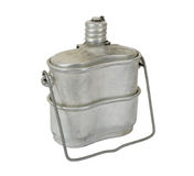 Military issued cooking pot. Russian Military issued cooking pot Royalty Free Stock Photos