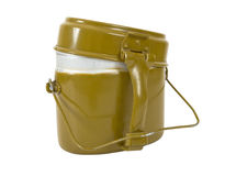 Military issued cooking pot. Russian Military issued cooking pot Stock Images