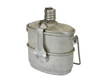 Military issued cooking pot Stock Image