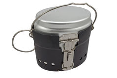 Military issued cooking pot Royalty Free Stock Image