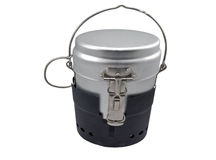 Military issued cooking pot Royalty Free Stock Photography