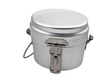 Military issued cooking pot Royalty Free Stock Images