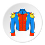 Military jacket of guards icon, cartoon style Stock Image