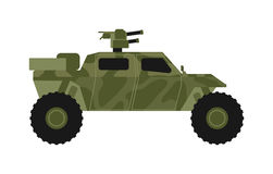Military jeep vector Royalty Free Stock Images