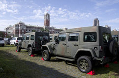 Military jeeps in front of Presidential Office Building Taiwan Royalty Free Stock Image
