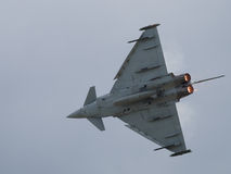 Military jet aircraft in flight Stock Image