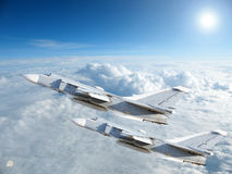 Military jet bomber Su-24 Royalty Free Stock Photography
