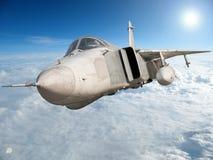 Military jet bomber Su-24 Royalty Free Stock Photos