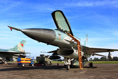 military jet fighter royalty free stock image