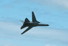 Military jet in flight Royalty Free Stock Photos