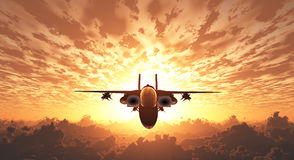 Military Jet  in Flight Royalty Free Stock Photo