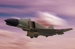 Military jet flying Stock Photos