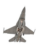 Isolated military jet Royalty Free Stock Photo