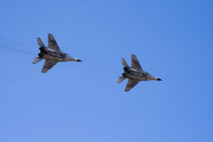 Military jets flying through the sky Royalty Free Stock Photography