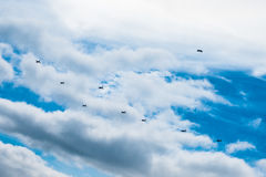 Military Jets flying together Stock Photos