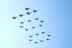 Military jets form number 100 Stock Photo